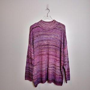 CJ Banks Marled Mock Neck Sweater- NWT